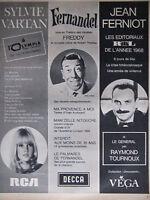 PUBLICITÉ 1968 SYLVIE VARTAN A L'OLYMPIA FERNANDEL ET JEAN FERNIOT - ADVERTISING