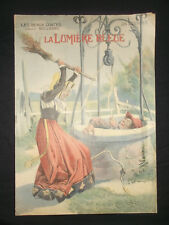 La lumière bleue - Grimm - les Beaux Contes 1909 - Vaccari - in-folio