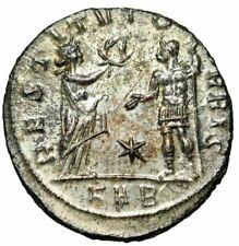 """Aurelian Silvered Antoninianus """"RESTITVT ORBIS"""" Serdica RIC 298 Exquisite FDC"""
