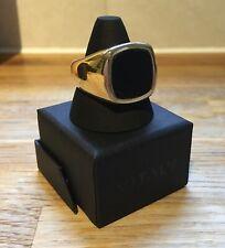 Beautiful Vitality Vaurus Gold Stainless Steel & Onyx Signet Ring Size 10