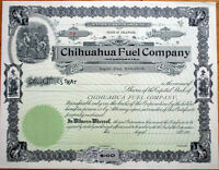 1905 Mining Stock Certificate: 'Chihuahua Fuel Company'