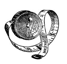 Tape Measure Rubber Stamp