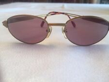 VERY RARE VINTAGE JEAN PAUL GAULTIER MATTE GOLD/BROWN OVAL 51-19-140 SUNGLASS