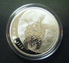2013 $2 1oz New Zealand Fiji Taku Silver Bullion coin Hawksbill turtles .999