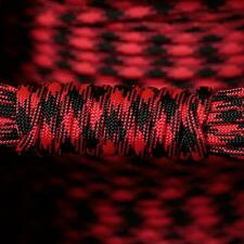 PARACORD 550 TYPE 3 - 7 STRAND PARACHUTE CORD - BLACK WIDOW - 100FT