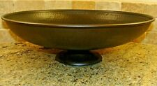 Southern Living Large Cyprus Footed Bowl Hammered Bronze Design 41244 $60