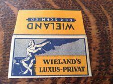 VINTAGE RAZOR BLADE & WRAPPER 'WIELAND'S LUXUS-PRIVAT