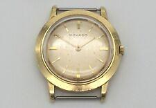 Vintage Men's 1957 Movado 17J Cal 205 Mechanical Watch - 18k Solid Gold - Works
