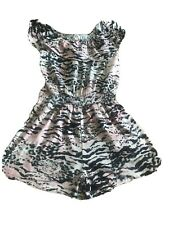 Girls River Island Leopard Animal Print Playsuit Age 7-8 Years Worn Once
