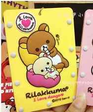 Japan Rilakkuma Relax Bear ID Metro business Card Case strap holder Kawaii Cute
