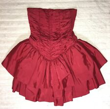 Unbranded Red Puff Corset Homecoming Dress Strapless Short GUC One Size #90
