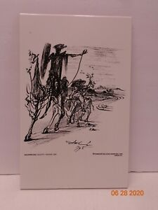 Salvador Dali Don Quijote on Tile