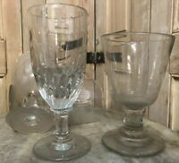 Lot de 4 Verres Soufflé Ancien XIXeme Antique French Glass Absinthe