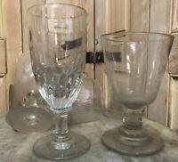 Lot de 4 Verres Soufflé Ancien XIXeme Antique French Glass Absinthe
