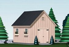 SHED PLANS BLUEPRINTS  12 ft x 16 ft TRADITIONAL STYLE