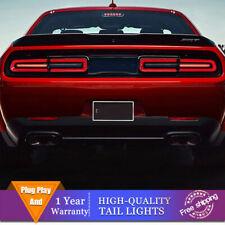 New LED Taillights Assembly For Dodge Challenger Dark/Red LED Rear lights 08-14
