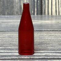 Vintage Barbie Deluxe Kitchen 1960's Clear Red Bottle Replacement Part Piece