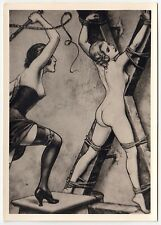 S/M SADOMASO SPANKING BONDAGE NUDE * 50s Photo of 1930s LÉON PIERRE Drawing #2