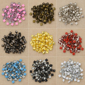1 Set Pyramid Rivets Punk Square Leather Craft Accessories Alloy Spike DIY Kit