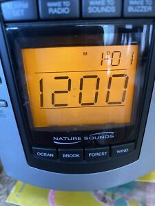Timex Digital Clock Radio With Nature Sounds
