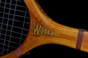 Bright Antique Wood 1920 Wright & Ditson WHIZ Tennis Racket Intact Strings