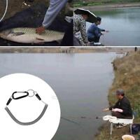 1pcs Fishing Retractable Wire Rope Coiled Lanyard Safety Rope with Swivel Ring