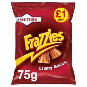 Smiths Frazzles Crispy Bacon Flavour Corn Snacks - 75g x 15 Bags