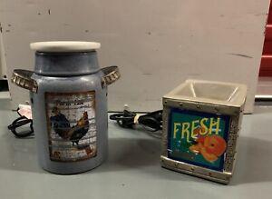 SCENTSY Fruit Crate and Milk Jug Rustic Wax Warmers 46109 & 41090 Genuine