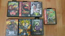 Sega Genesis 7 Game Lot Rare w/ Original Cases Turrican Altered Beast Earthworm