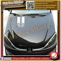 Sticker autocollant bande capot de voiture damier en escalier tunning racing
