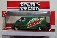 """Denver die cast Mtn dew van green Menards exclusive diecast approx 3.5"""""""