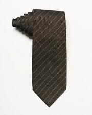 """Tom Ford NWT Brown Black Gray Textured Striped 100% Silk Tie 3.25"""" Italy"""