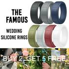 Medical Grade Silicone Wedding Ring Men's Flex Fit Sport Rubber Band Size 8-13#