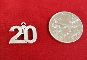 """10pc """"number 20"""" charms in silver style (BC1490)"""