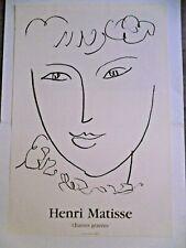MATISSE Henri Affiche originale litho 1999 Femme Portrait Pompadour