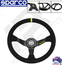 Sparco Style 350mm Black Suede Leather Deep Dish Drift Racing Steering Wheel 350