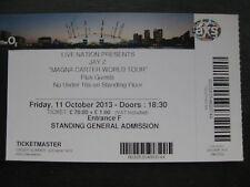 JAY Z  O2 LONDON  11/10/2013 TICKET