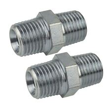 """1/2"""" BSP Male to Male Air Line Hose Compressor Fitting / Union 2 PACK FT052"""