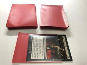 Lenayuyu 100pcs Red Deck Protector Standard MTG Card Sleeves 66x91mm Matte