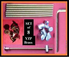 Set 8 Connettori Bullone Letto/sostituzioni .150 mm.M6 asta/ottone Manica/15 mm DADO. Yzp