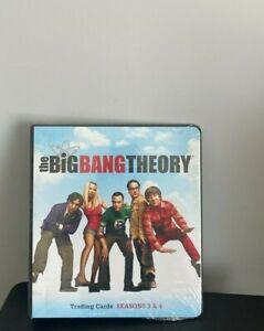 Cryptozoic Big Bang Theory Season 3 & 4 Trading Cards Binder NEW Factory Sealed