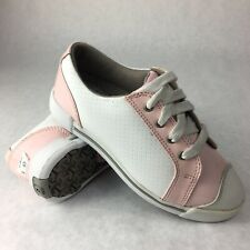 Footjoy Girl Junior FJ Golf Shoes Size 1M Pink White  48202 New