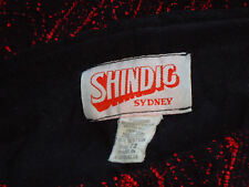 SHINDIG,Syd DesignerRedEmbroideredBlkNetPartySz12