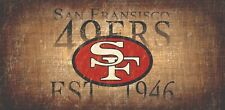 "San Francisco 49ers Retro Throwback Established 1946 Wood Sign Wall NEW 12"" x 6"""