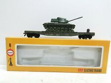 Vintage NOS Cox Trains HO Scale US Army Military Flat Car with Tank Load 6150-8
