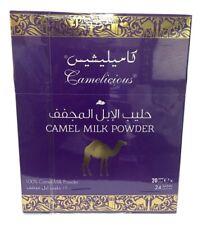 Camelicious poudre de lait de chameau naturel 24 sachets produit original Dubaï