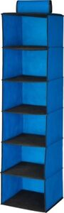 Honey-Can-Do 6 Pocket Hanging Shelf Storage Organizer - Non-Woven - Blue