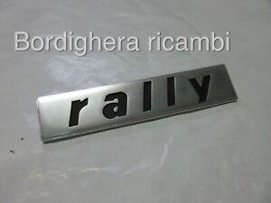 FIAT 128 RALLY 124 ABARTH SCRITTA LOGO STEMMA BADGE EMBLEM SCRIPT GENUINE METAL