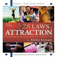 New 6 CD The 28 Laws of Attraction Nightingale Conant (Thomas J. Leonard)