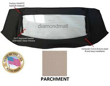 Mustang Convertible Top H Glass Window Section only PARCHMENT Sailcloth 94-04